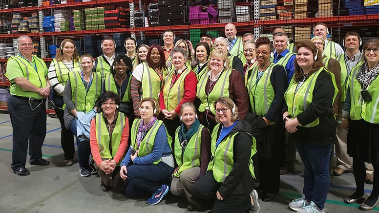 Cecil Leadership Institute members at the Amazon Fulfillment Center