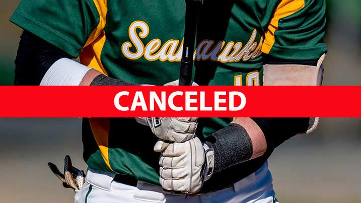This image shows that the baseball games have been canceled.