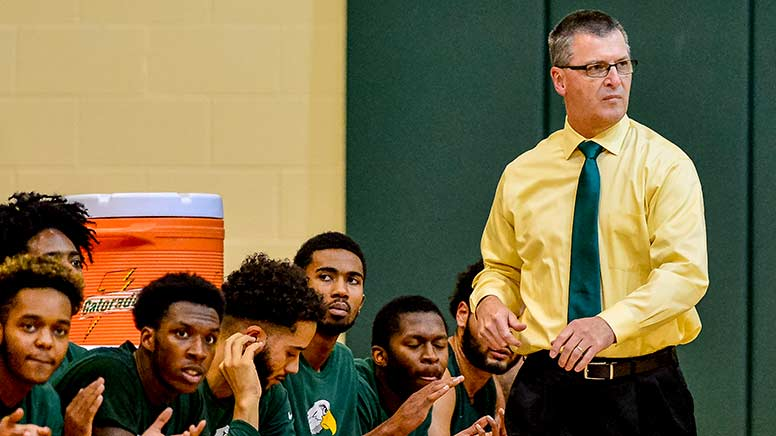 Photo of the men's basketball coach Ed Durham.