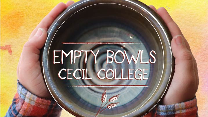 """Cecil College will host the """"Empty Bowls"""" Benefit to help feed Cecil County children."""