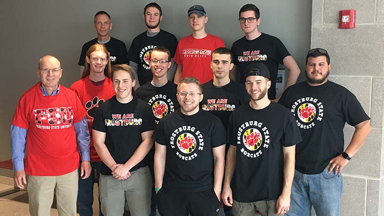 Group photograph of Frostburg State University graduates