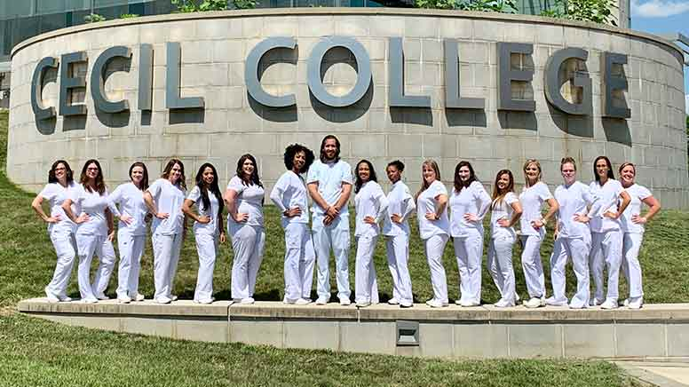 This is the graduating class of Summer 2019 from the LPN program.