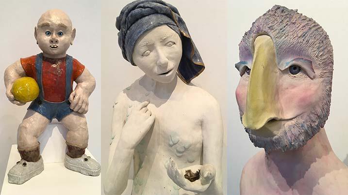 Three sculptures by Carol White