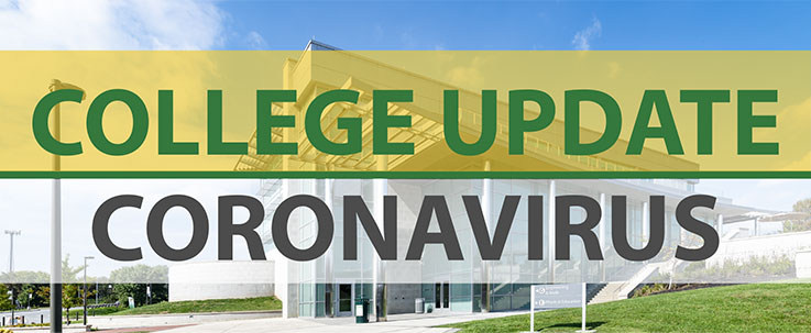 "Cecil College's EMB building. Text: ""College Update 