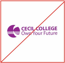 Cecil College logo in an unsupported color