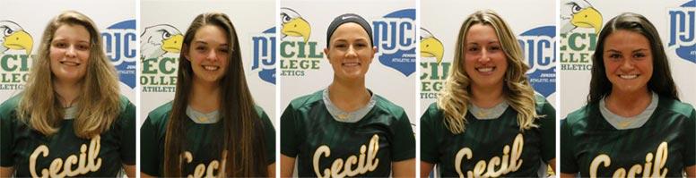 Women's softball players